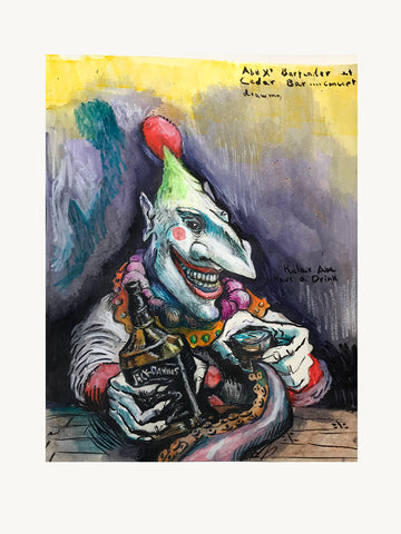 "Keith Pavia, ""Clown Bar Design #1"" SOLD"