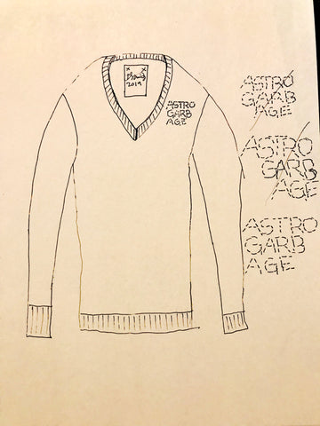 "Kellesimone Waits, ""ASTROGARBAGE Sweater Sketch"""