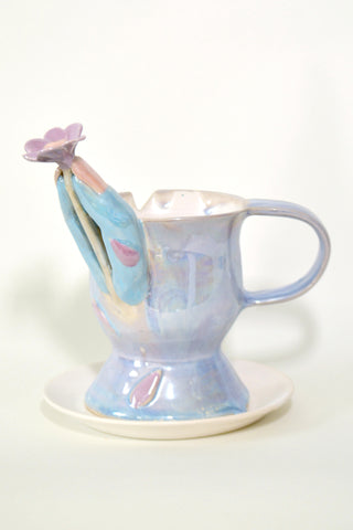 "Jen Dwyer, ""Love Me, Love Me Not, But Just Love Me (Tea Cup no. 4)"""
