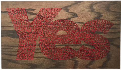 "Daniel Dugan, ""Yes Red Inlay"""