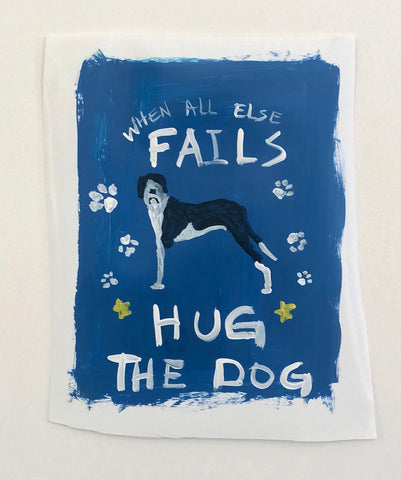 "Alison Woods, ""Hug the Dog"" SOLD"