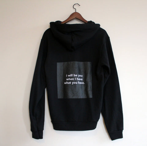 "Chloë Bass, ""The Book of Everyday Instruction, Chapter Eight: Complete upon arrival, Sweatshirt #2"""
