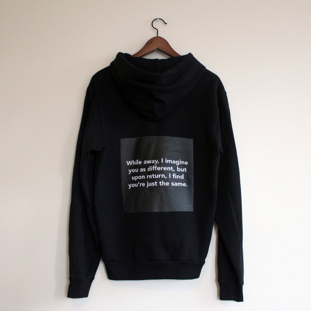 "Chloë Bass, ""The Book of Everyday Instruction, Chapter Eight: Complete upon arrival, Sweatshirt #3"""