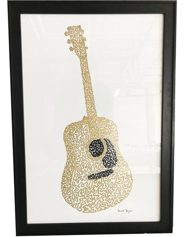 "Daniel Dugan, ""Golden Guitar (One Continuous Line)"""
