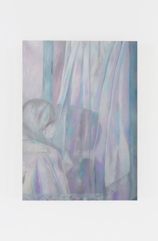 "Srijon Chowdhury, ""Anna drying her hair on the towels hanging from our bedroom door (4)"""