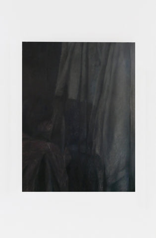 "Srijon Chowdhury, ""Anna drying her hair on the towels hanging from our bedroom door (2)"""