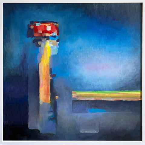"Anne Spalter, ""Red Lighthouse"" SOLD"