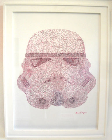 "Daniel Dugan, ""Trooper Pink (One Continuous Line)"""