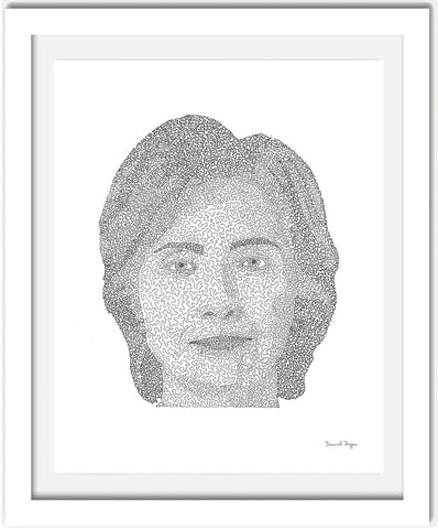 "Daniel Dugan, ""Hillary (One Continuous Line)"""