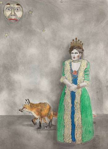 "Amy Silver, ""Tsarina Alexandra Feodorovna with Marshall Applewhite as Moon"""
