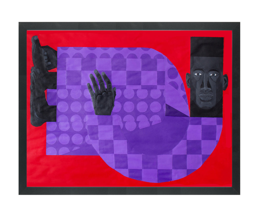 "Jon Key, ""Man in the Violet Suit No. 3 (Red)"" SOLD"