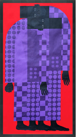 "Jon Key, ""Man in the Violet Suit No. 6 (Twins No. 1)"" SOLD"