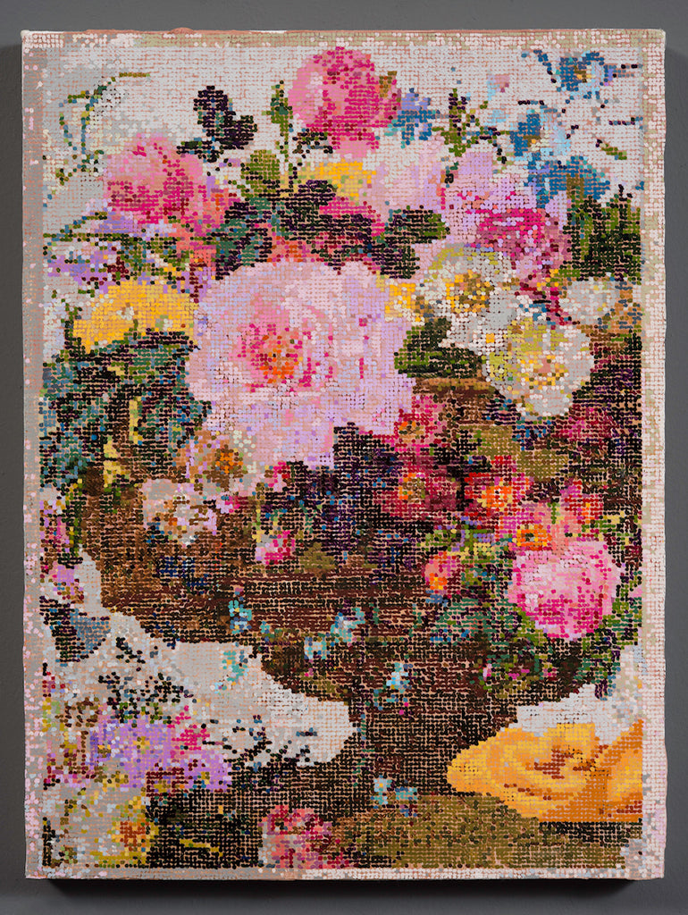 "Kirstin Lamb, ""After French Wallpaper (Wild Pink Floral)"" SOLD"