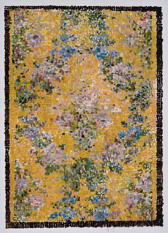 "Kirstin Lamb, ""After French Wallpaper Yellow Floral"" SOLD"
