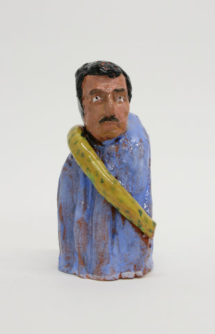 "Christian Vargas, ""Patron Saint of Don't Tread on Me Snake, Decapitated"" SOLD"