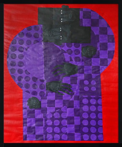 "Jon Key, ""Twins in the Violet Suit No. 2"""