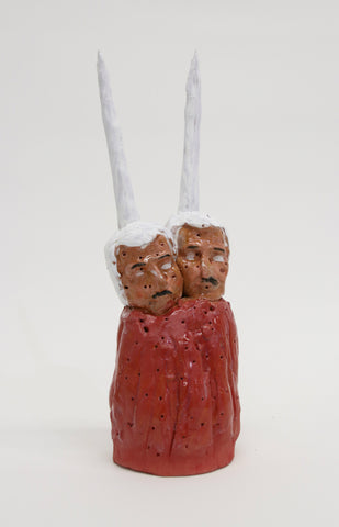 "Christian Vargas, ""Siamese Twins with Horns (Red)"" SOLD"