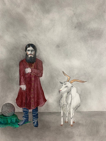"Amy Silver, ""Rasputin with a Goat"""