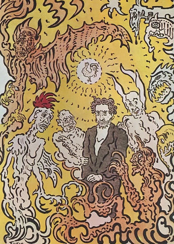 "James Ensor, ""The Artist Surrounded by Evil Spirits"""