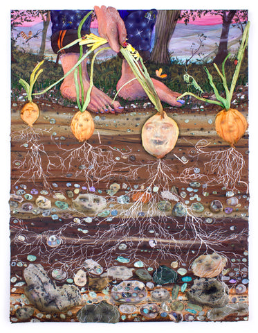 "Kate Klingbeil, ""Deep Rooted, (Four Bulbs)"" SOLD"