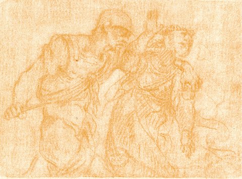 "Zorawar Sidhu, ""Soldier Stabbing a Woman After Anonymous 17th Century Italian Artist"" SOLD"