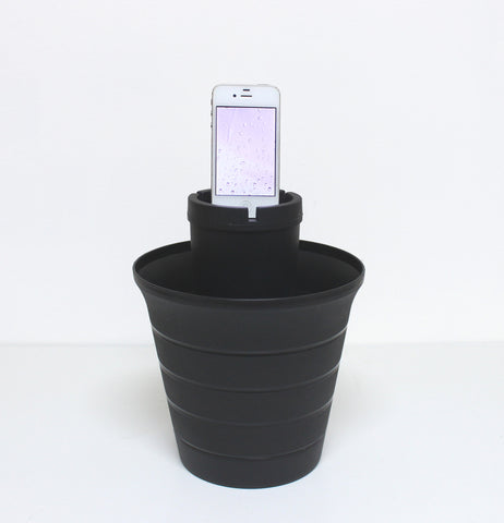 "Andrea McGnity, ""Calming Rain for Meditation/Butt Bucket"""