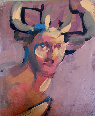 "Rosemarie Beck, ""Stag (Study)"""