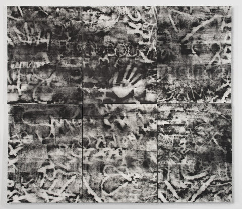 "Brigitte Engler, ""6 Panels With Handprint"""