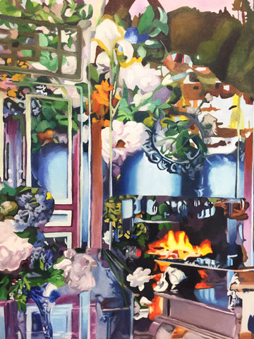 "Darryl Westly, ""Interior/Exterior with Still Life (After Lorrain & Renoir)"""