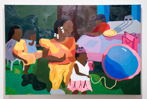 "Azikiwe Mohammed, ""Imani's Cookout"" SOLD"