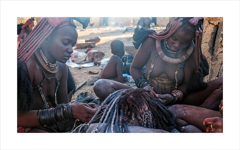 "Lino Meoli, ""Himba Girls Doing Each Other's Hair"""