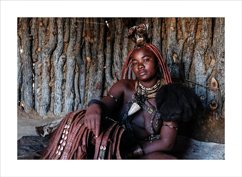 "Lino Meoli, ""Himba Woman In Her Hut"""