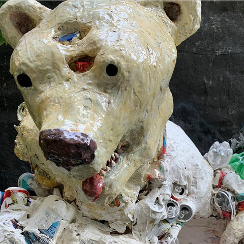 "Haley Hughes, ""POLAR BEAR HEAD TRASH"""