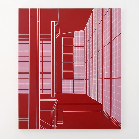 "Heath West, ""Maison de Verre (Red)"""