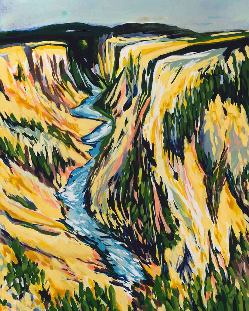 "Jen Dunlap, ""Yellowstone - Long Slide"""