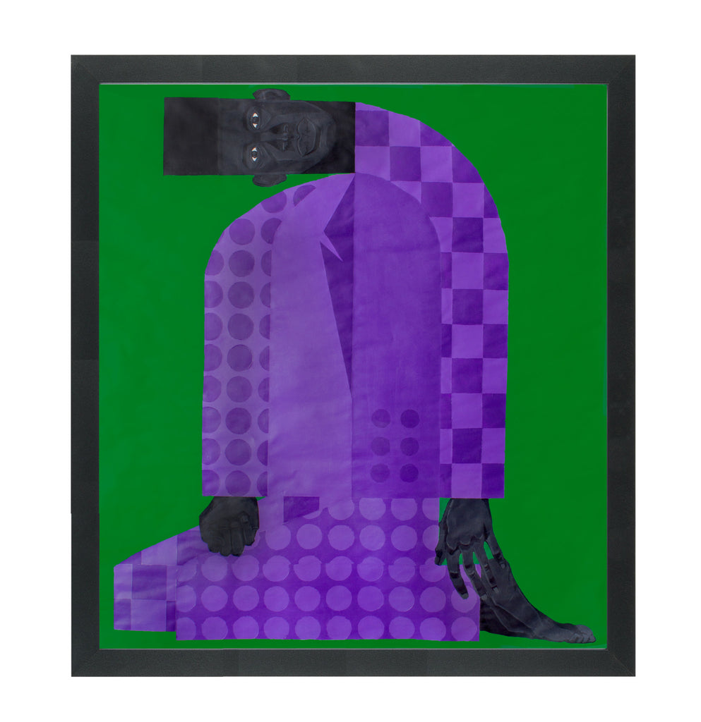 "Jon Key, ""Man in the Violet Suit No. 2 (Green)"" SOLD"