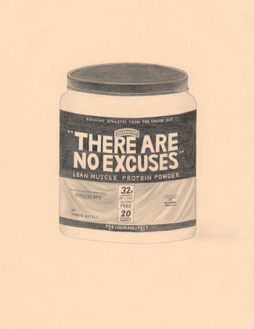 "Karen Mainenti, """"There Are No Excuses"" Protein Powder by Mario Batali, Chef (Muscle Milk)"""