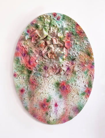 "Anna Breininger + Kristin Cammermeyer, ""Refuse Aggregate in Diffused Floral (Large Oval)"""
