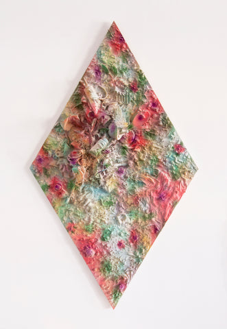 "Anna Breininger + Kristin Cammermeyer, ""Refuse Aggregate in Diffused Floral (Large Diamond)"""