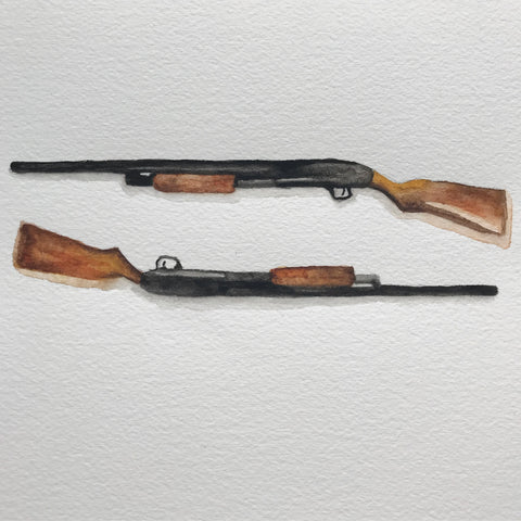 "Maggie Dunlap, ""Two 12-Gauge Mossberg Pump-Action Shotguns"""