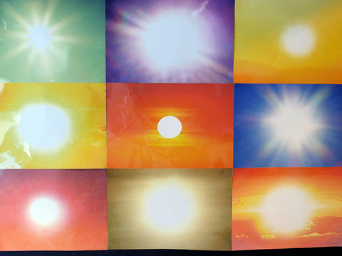 "Penelope Umbrico, ""Used Prints from the Installation, 5, 911, 253 Suns (from Sunsets) from Flickr 08/03/09, Foto Fest Mannheim"""