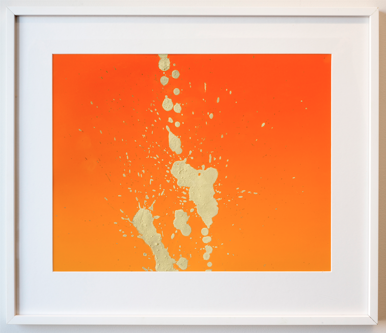 "Jo Karlins, ""Pissing on Orange"""