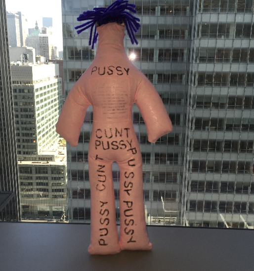 "Betty Tompkins, ""Dammit Doll, Betty for Planned Parenthood"" SOLD"