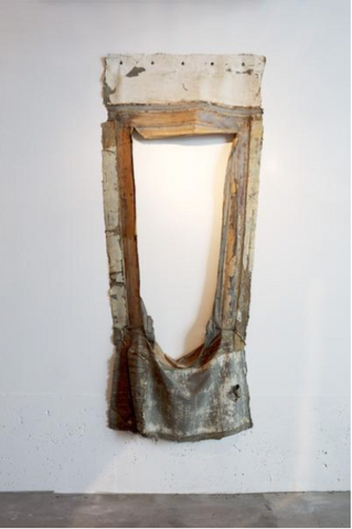 "Takashi Horisaki, ""Social Dress New Orleans  — Window Frame with weight rope,"""