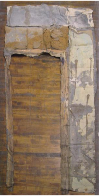 "Takashi Horisaki, ""Social Dress New Orleans — Interior Wall with Doorframe III"""