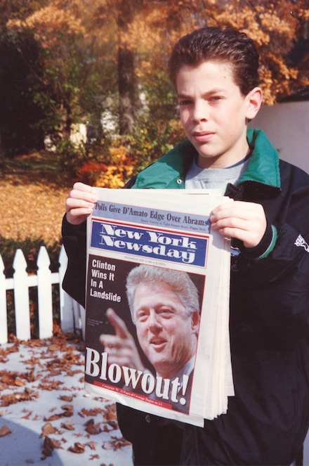 "Shony Rivnay, ""Blowout, Clinton Wins, New York Newsday, 1992"""
