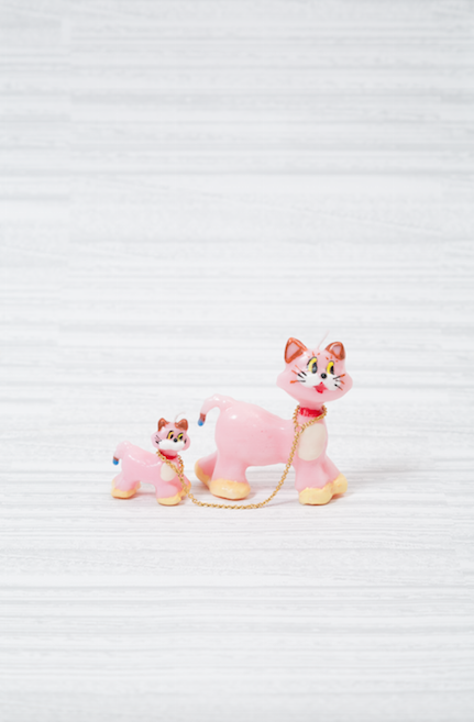 "Risa Hiratsuka, ""䝢䞁䜽䛾⊧ Pink Cats ᾋ䛝月❧䛱䛯䛔᫬䛻 ""When You Want To Flee Away""""SOLD"