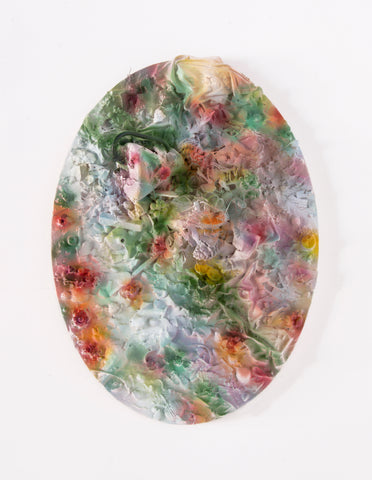 "Anna Breininger + Kristin Cammermeyer, ""Refuse Aggregate in Diffused Floral (Small Oval)"""
