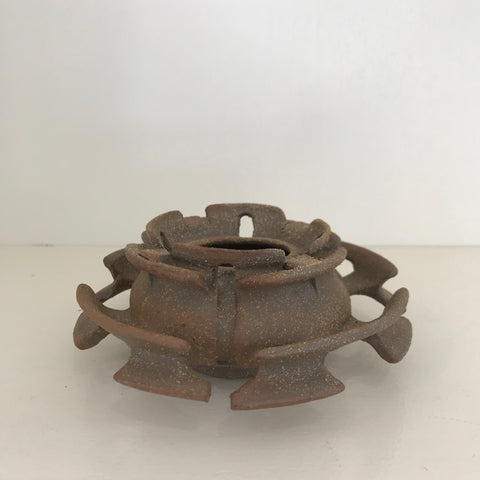 "Yassi Mazandi, ""Untitled (Small Ceremonial Vessel 4 Petals, 2 layers)"""