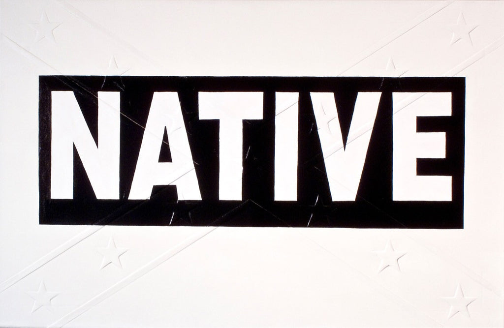 "Michael Holman, ""Black Native Bumper Sticker"""